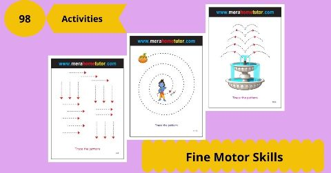Fine Motors Skills  Activity Flash Cards