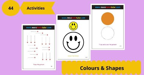 Colors & Shapes Activity Flash Cards