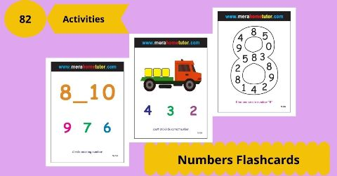Numbers Flashcards Activity Flash Cards