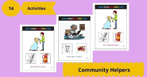 Comunity Helpers Flash Cards Activity Flash Cards