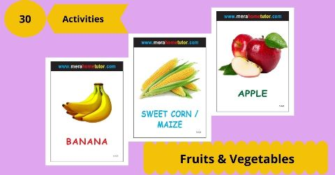 Fruits & Vegetables Activity Flash Cards