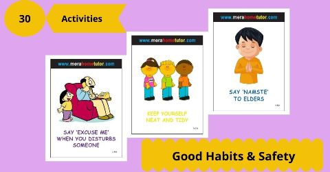 Good Habits & Safety Activity Flash Cards