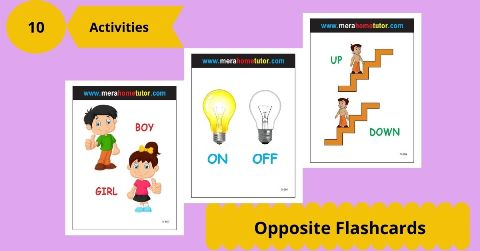 Opposite Flashcards Activity Flash Cards